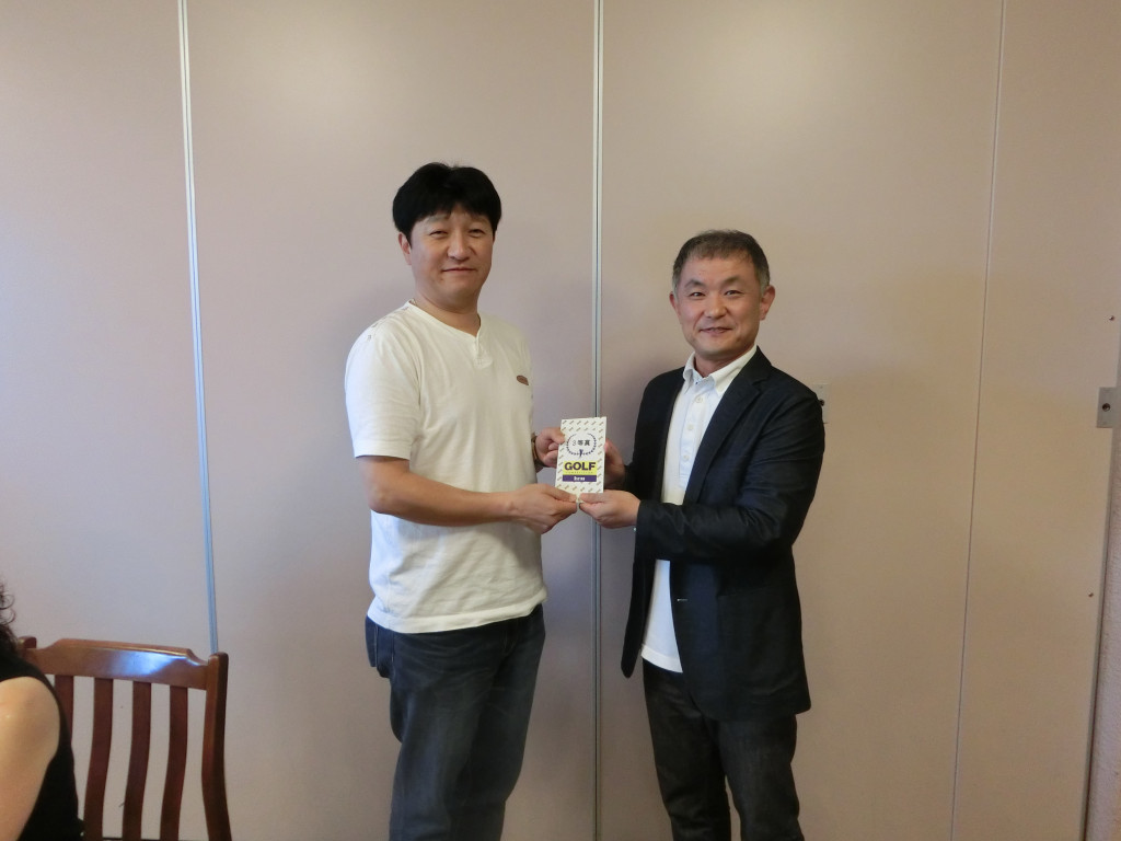 138回済友会-3位矢村聖晋氏と髙会長